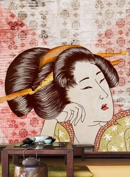 Classic geisha - wallpaper