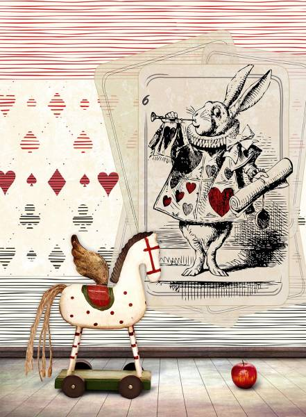The white rabbit hole - wallpaper
