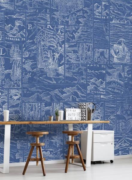 Polygon map - wallpaper