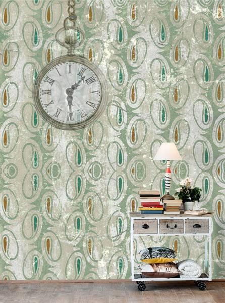 The ancient clock - wallpaper