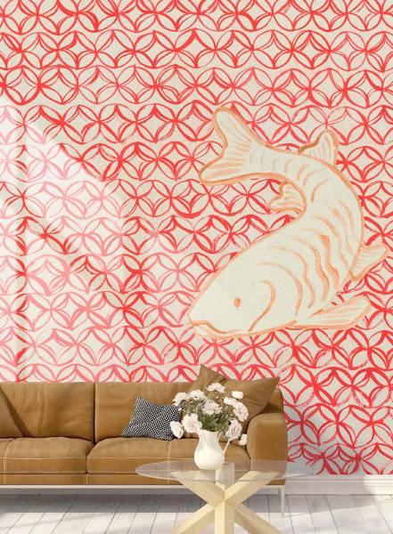 Oriental red - wallpaper