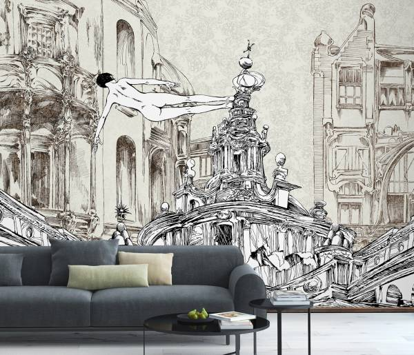 A spasso tra le rovine - wallpaper