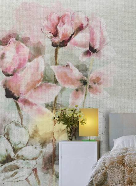 Fading cyclamen - wallpaper