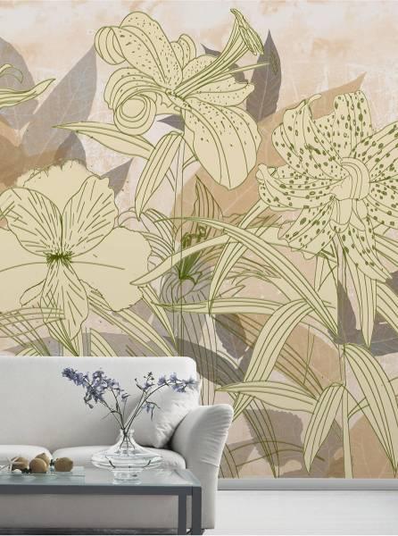 Fancy lilies - wallpaper