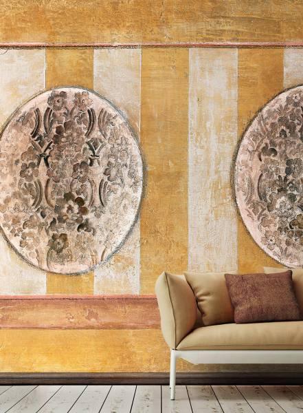 Tappezzeria dipinta ritrovata - wallpaper