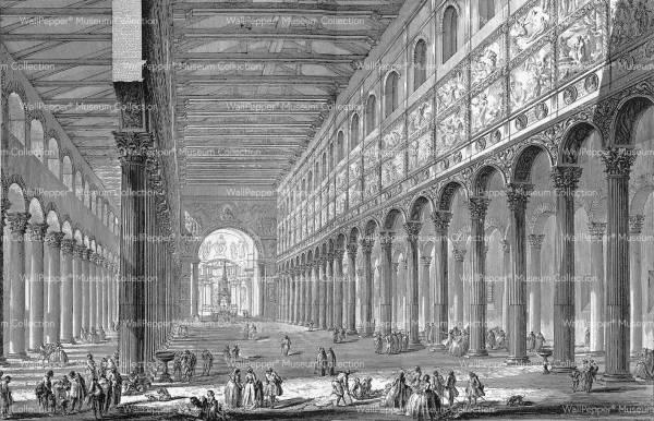 wallpaper - Spaccato interno della Basilica di S. Paolo fuori delle mura