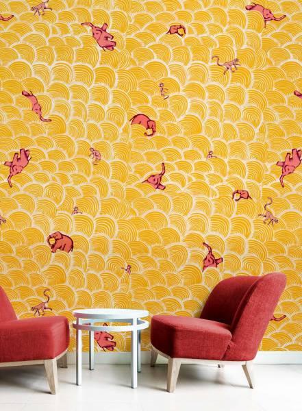 Sunny elephant - wallpaper