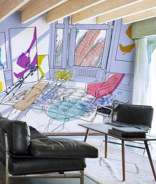 Oblique Interior - wallpaper