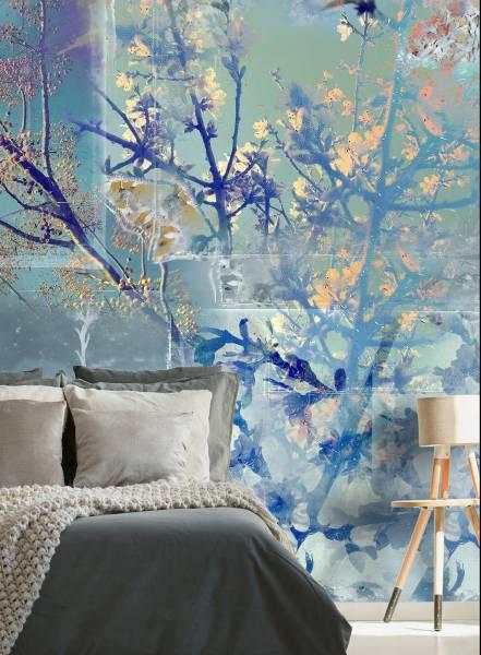 Argento fior di seta - wallpaper