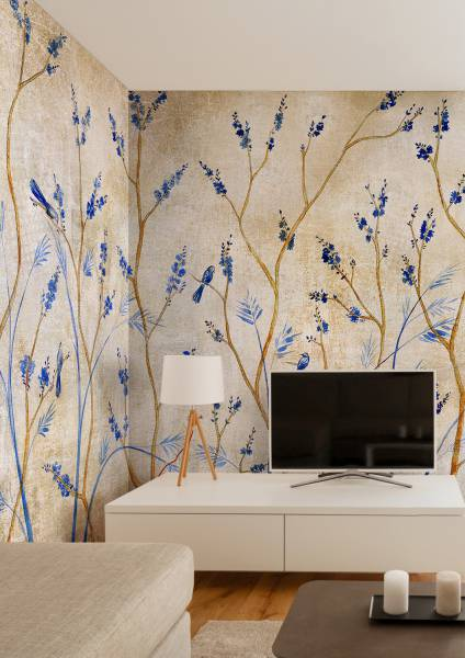 Moineaux- wallpaper
