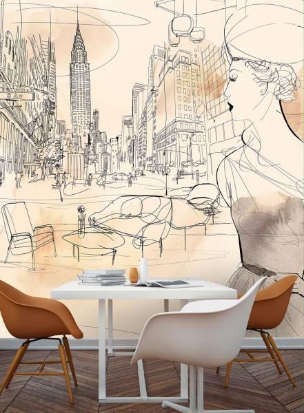 NYC interior and fashion - wallpaper