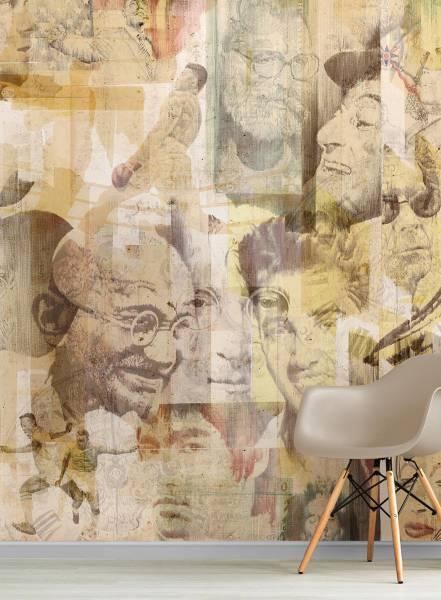 Celebrities tape - wallpaper