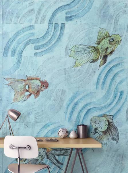 Onde di pesci - wallpaper