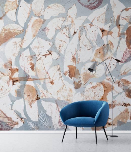 Half leaves- wallpaper