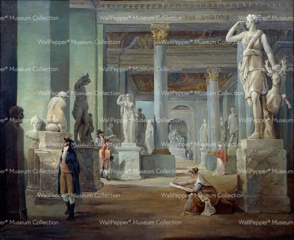 wallpaper - La salle des saisons au musee du Louvre