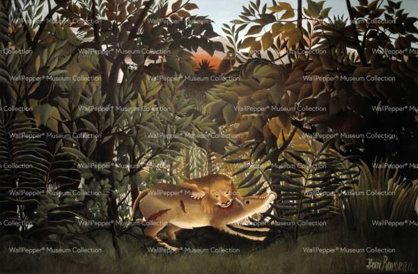 wallpaper -Le lion ayant faim