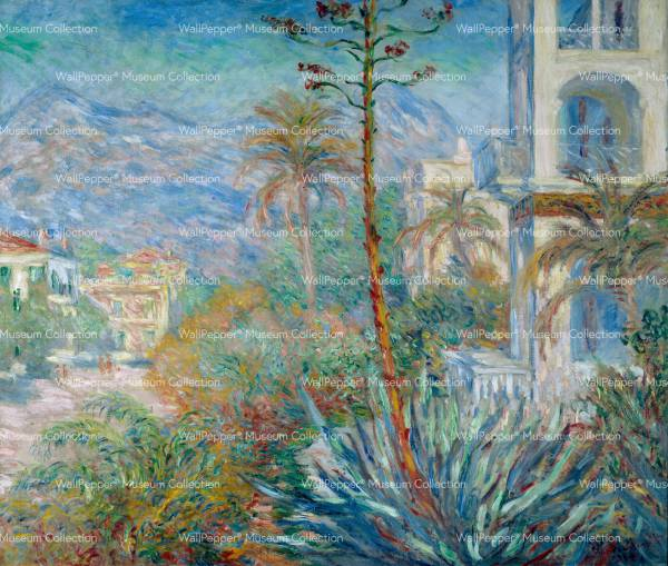 wallpaper - Les villas a Bordighera en 1884