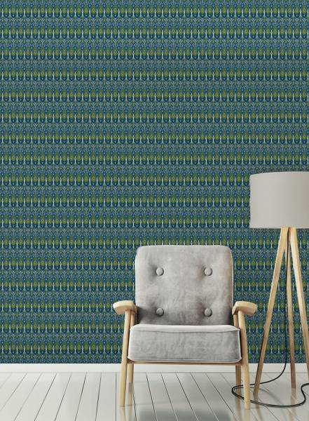 Blue ikat - wallpaper