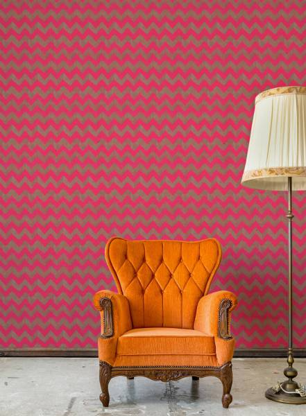 Pink zig-zag - wallpaper