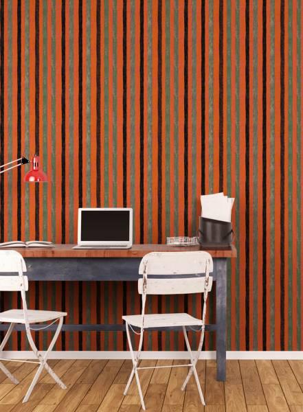 Orange stripe - wallpaper