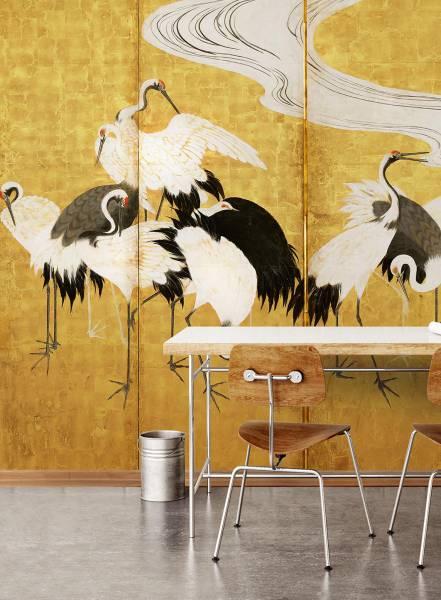 Gold crane - wallpaper