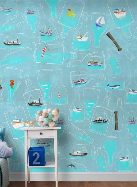 In a bottle - wallpaper