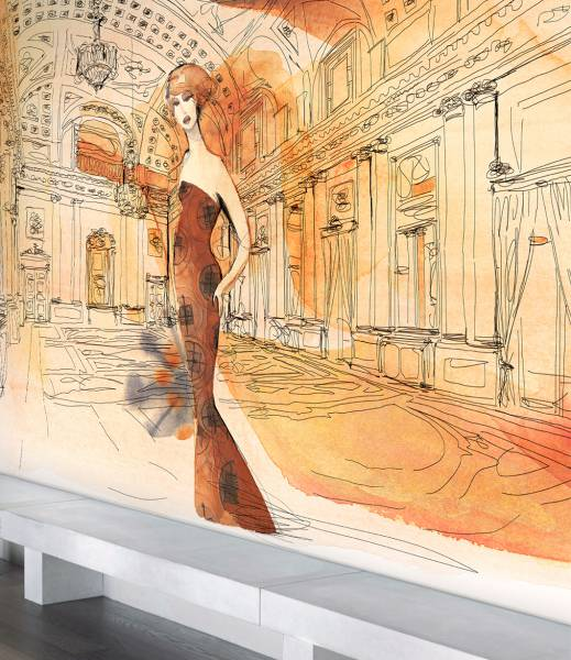 Palazzo Serbelloni in fashion style- wallpaper