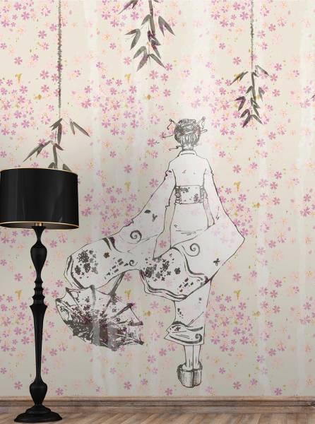 Bamboo girl - wallpaper
