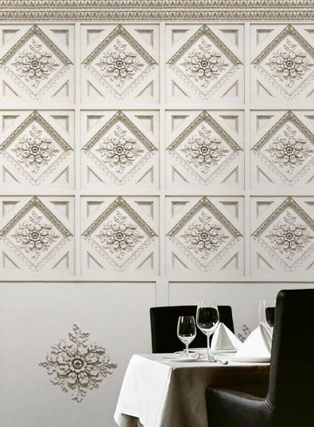 Coffer wall - wallpaper