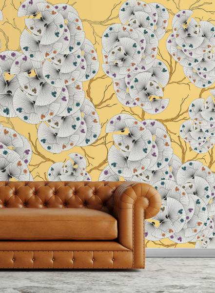 Fans of flowers - wallpaper