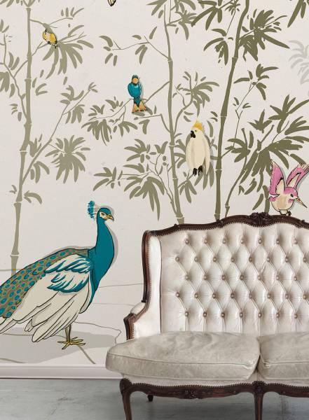 Il cinguettio nel bambù - wallpaper