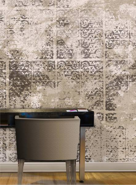 Letterpress garden - wallpaper