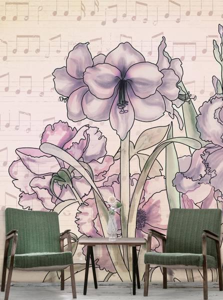 Musical Iris - wallpaper