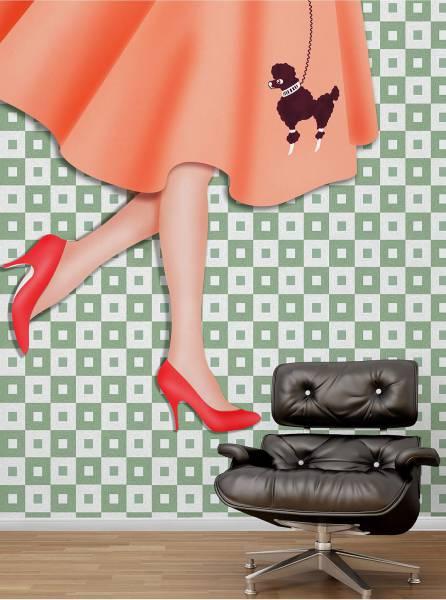 The doodle skirt - wallpaper