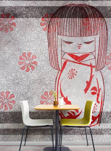The kokeshi doll - wallpaper