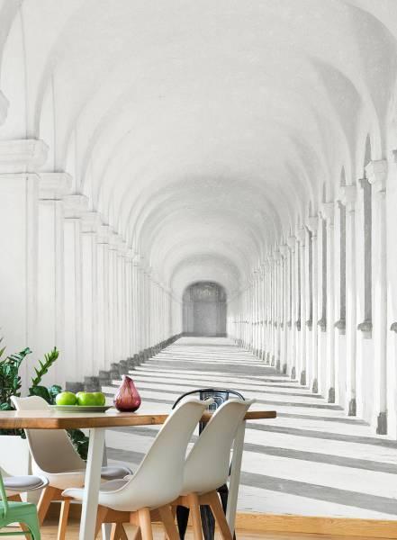White arches - wallpaper