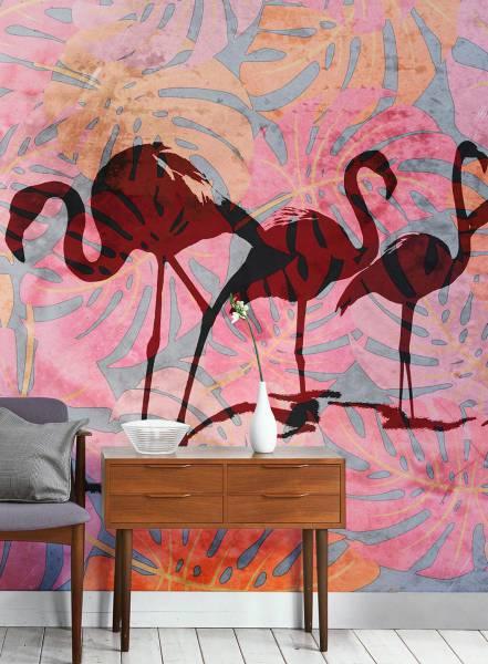 Wild Flamingos - wallpaper